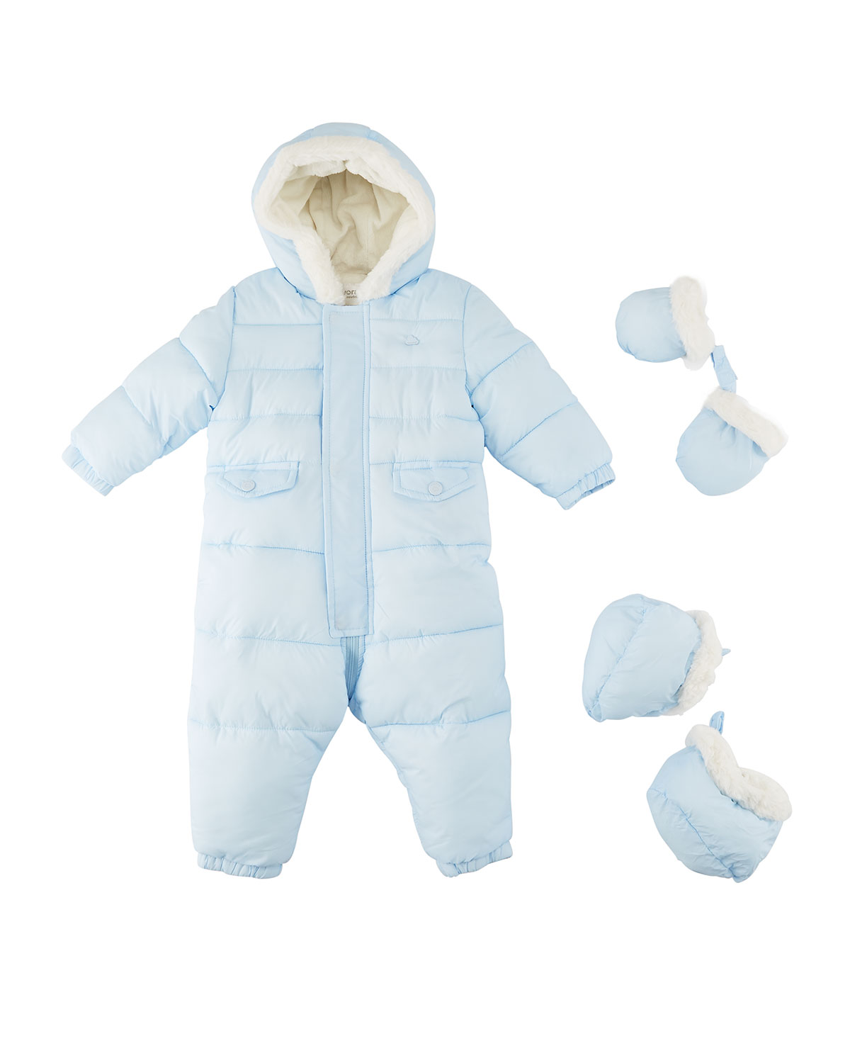63a793db0 Mayoral Snowsuit with Faux-Fur Lining, 3-12M   Neiman Marcus