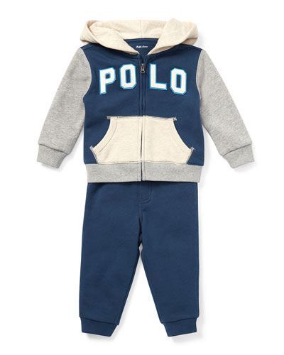 Colorblock Zip-Up Jacket w/ Matching Sweatpants  Size 6-24 Months