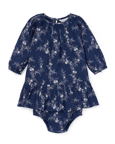 Boho Woven Dress w/ Bloomers, Size 6-24 Months