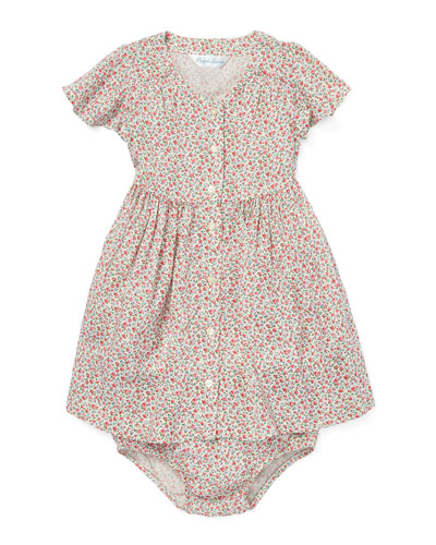 Woven Floral Dress w/ Bloomers, Size 6-24 Months