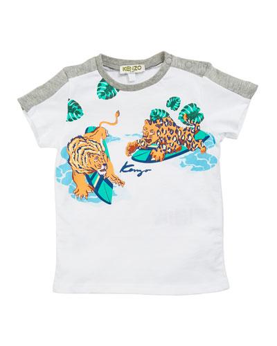 Surfing Tiger Graphic Tee, Size 12-18 Months