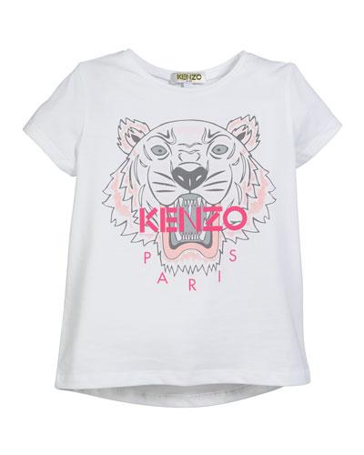 Tiger Logo Printed T-Shirt  Size 2-4