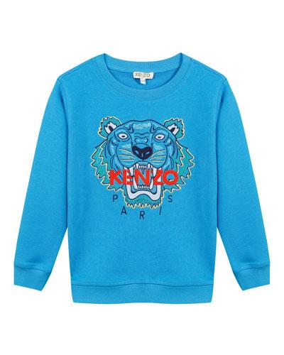 Signature Tiger Sweatshirt, Size 5-6