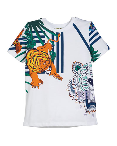 Multi-Icon Graphic T-Shirt  Size 5-6