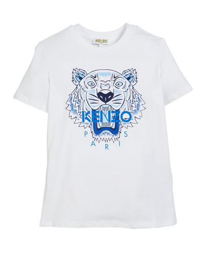 Tiger Logo Print T-Shirt  Size 8-12