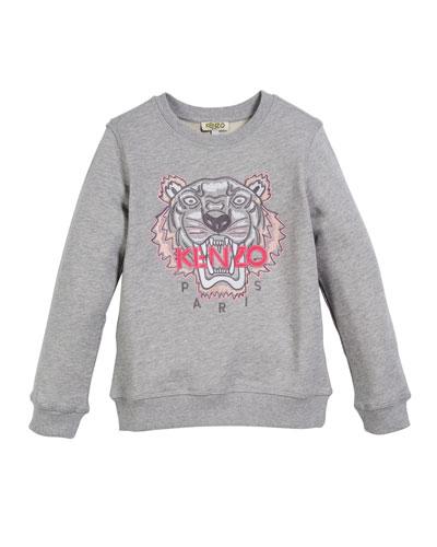 Tiger Face Sweatshirt  Sizes 8-12