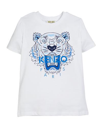 Tiger Logo Print T-Shirt  Size 5-6