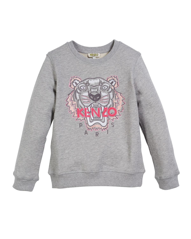 1aefab69 Kenzo Tiger Face Sweatshirt, Sizes 5-6 | Neiman Marcus