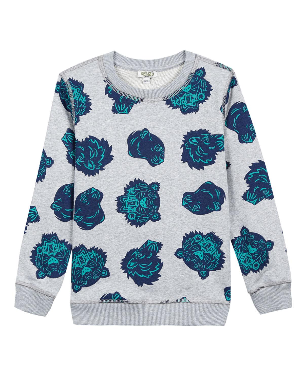 ff3aeb6c9b02 Kenzo Allover Tiger Head-Print Sweatshirt