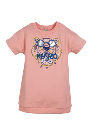 Kenzo Sunglasses Tiger Embroidered Sweatshirt Dress, Size 8-12