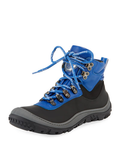 Leather Logo-Laces Ski Boots, Kids