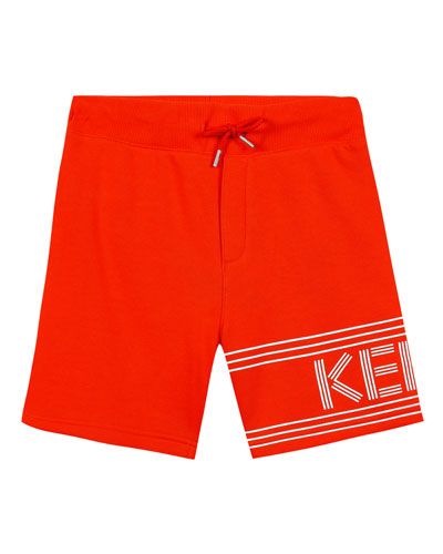 Fleece Logo Bermuda Shorts, Size 8-12