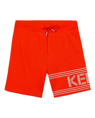 Fleece Logo Bermuda Shorts, Size 5-6