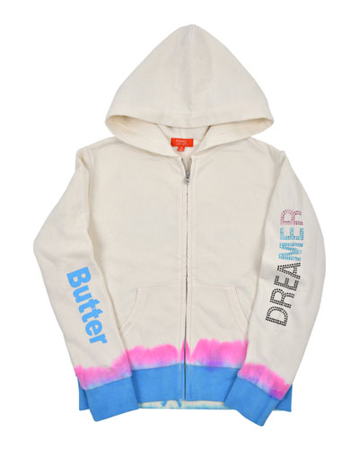 Dreamer Tie Dye Zip-Up Jacket, Size S-XL