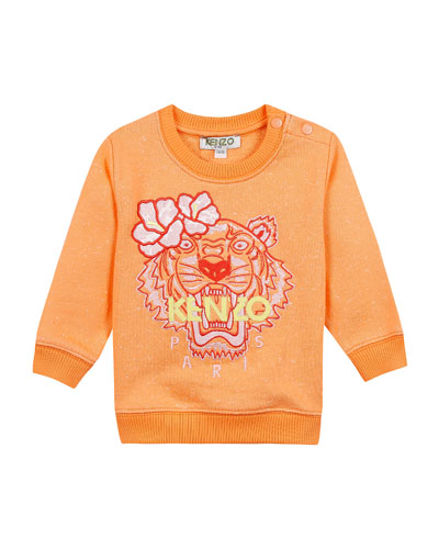 Floral Tiger Embroidered Sweatshirt, Size 12-18 Months