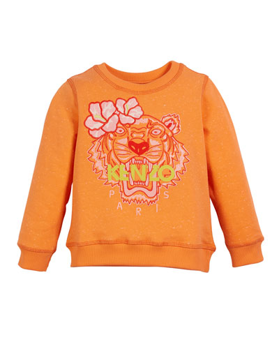 Floral Tiger Embroidered Sweatshirt  Size 2-4