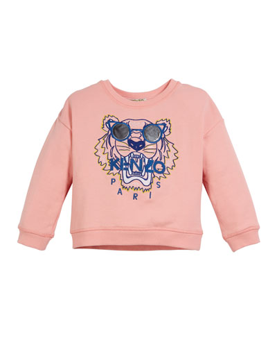 Tiger in Sunglasses Embroidered Sweatshirt  Size 2-4
