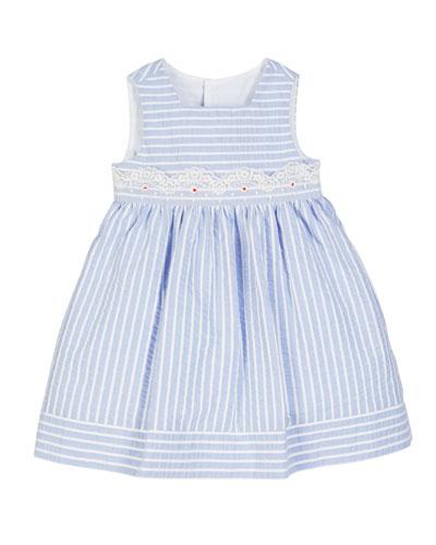 Striped Lace-Trim Sleeveless Dress  Size 12-24 Months