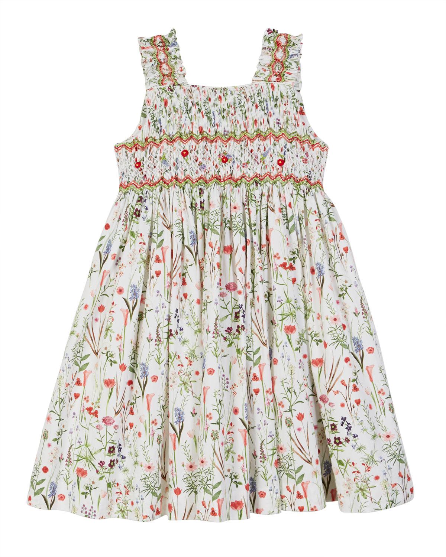 9a584c88629 Luli   Me Floral Smocked Sleeveless Dress