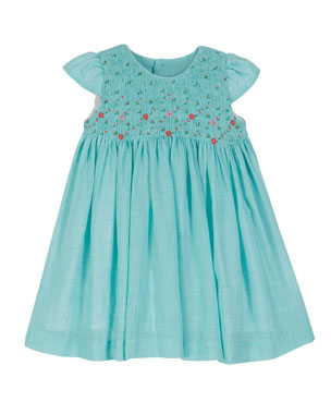 cafec2bf8571 Luli   Me Short-Sleeve Voile Smocked Dress