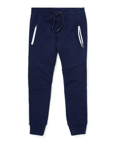 Contrast-Sides Jogger Pants  Size 5-7