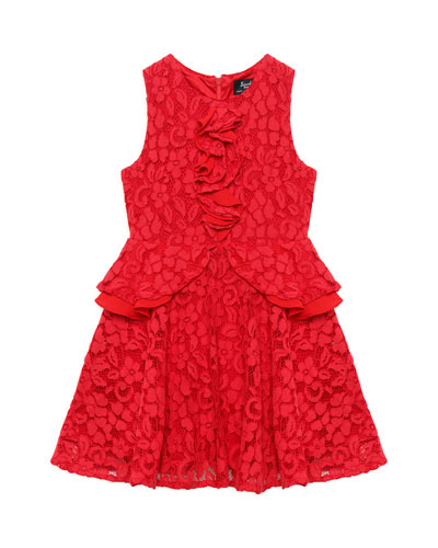 Primrose Lace & Ruffle Dress, Size 8-16