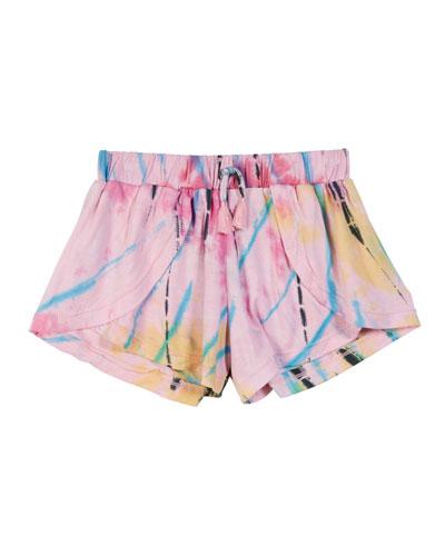 Tie Dye Cutaway Shorts  Size S-XL
