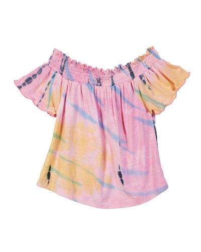 Tie Dye Off-the-Shoulder Top  Size S-XL