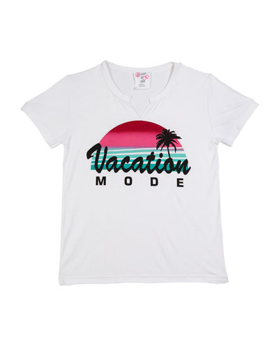 Vacation Mode Short-Sleeve Tee  Size S-XL