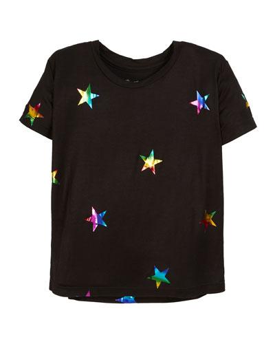 Short-Sleeve Foil Star Tee  Size S-XL