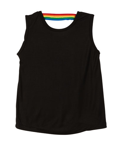 Rainbow Taped Back Tank  Size S-XL