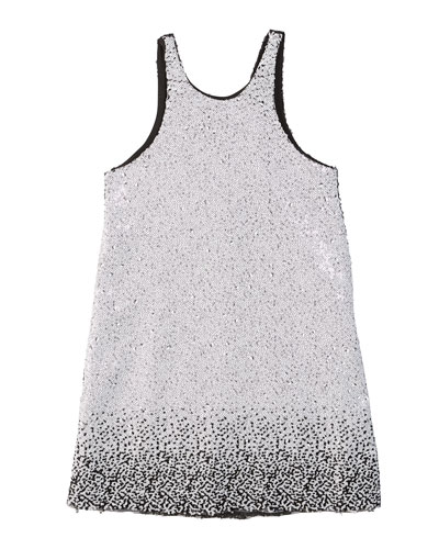 Kinsley Two-Tone Knit Sequin Shift Dress, Size 7-16