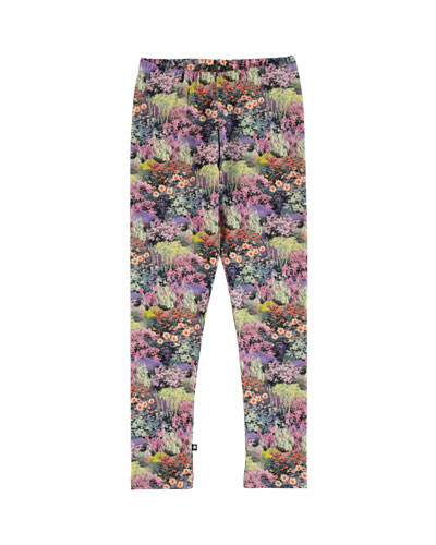 Niki Floral Print Leggings, Size 2-12