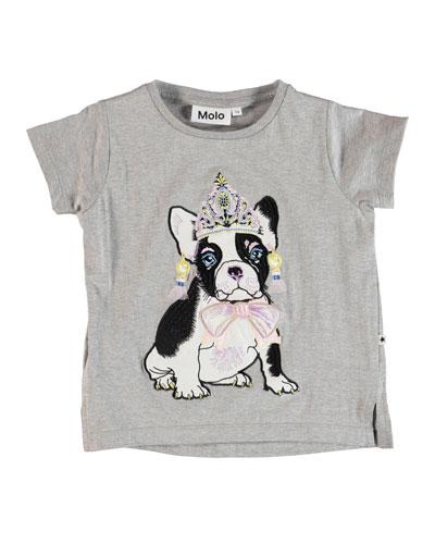 Reenasa Bulldog in Tiara Short-Sleeve Tee, Size 3-12