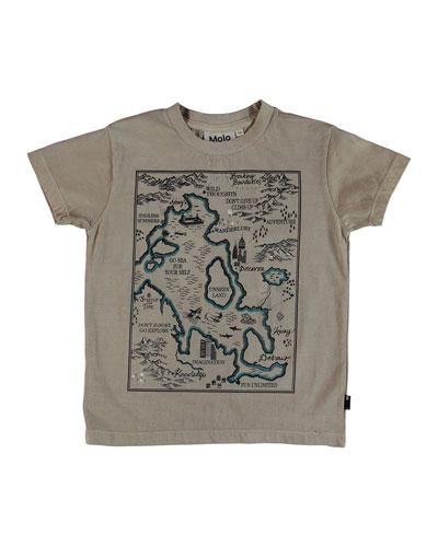 Runi Treasure Map Tee, Size 4-10