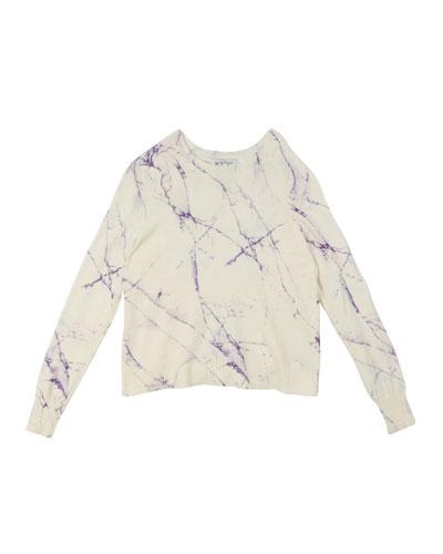 Marble-Print Raglan-Sleeve Top  Size 8-14
