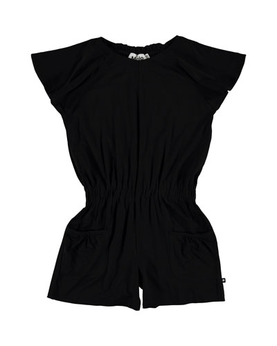 Alicia Contemporary Flutter Sleeves Romper  Size 7-16