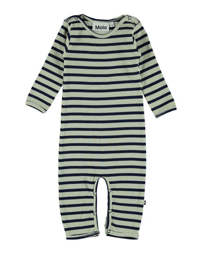 Fenez Ribbed Striped Coverall  Size Newborn-12 Months