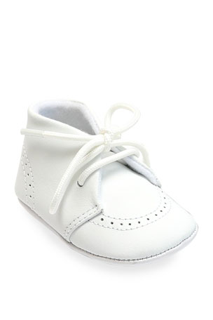 L'Amour Shoes Benny Leather Brogue Oxford Crib Shoes, Baby