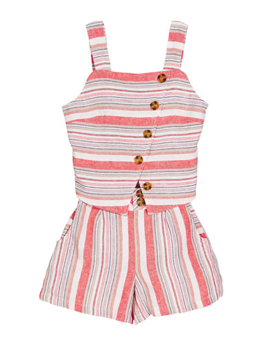 Ginger Striped Two-Piece Outfit Set, Size 7-14