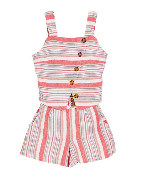 Habitual Ginger Striped Two-Piece Outfit Set, Size 7-14