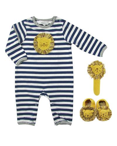 Striped Crochet Lion 3-Piece Layette Set  Size 0-12 Months