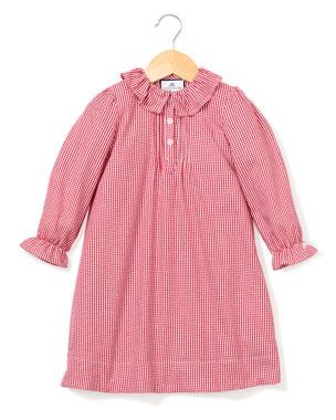 b80acbbb6e30 Petite Plume Victoria Ruffle-Collar Gingham Nightgown