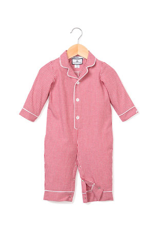 Petite Plume Mini Gingham Coverall, Size 0-24 Months