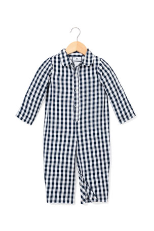 Petite Plume Gingham Coverall, Size 0-24 Months