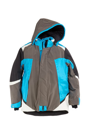 Stefano Ricci Boys' Colorblock Ski Jacket w/ Removable Hood, Size 10-14
