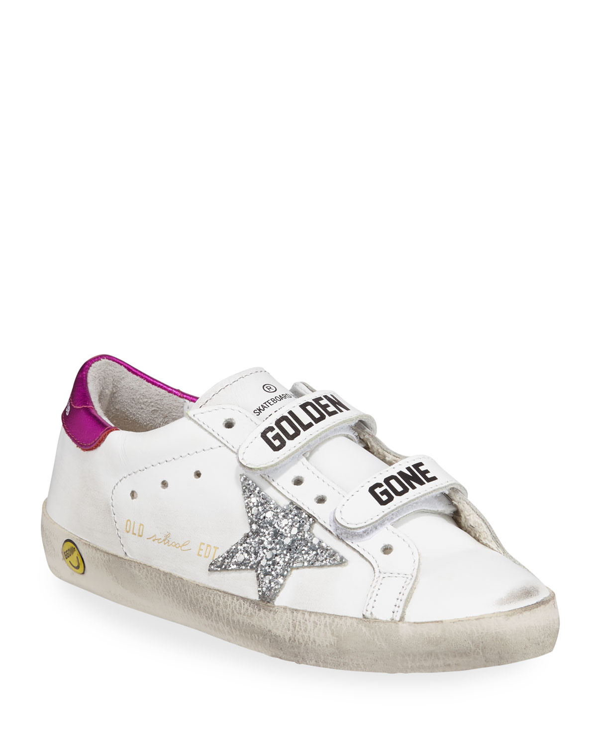 ec3a7dde147 Golden Goose Old School Leather Grip-Strap Sneakers
