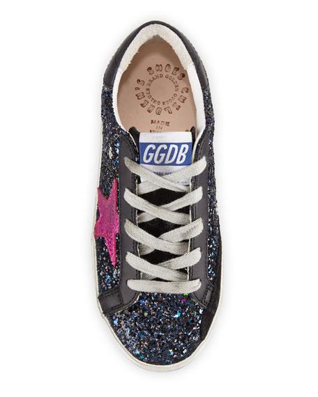 Golden Goose Superstar Glittered Low-Top Sneakers, Toddler/Kids