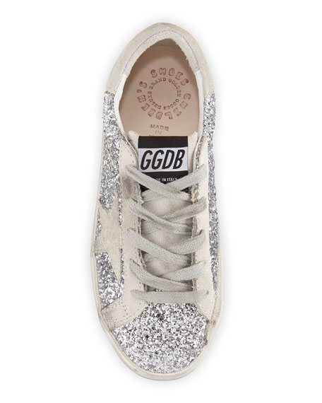 Golden Goose Superstar Glittered Low-Top Sneakers, Toddler/Kids