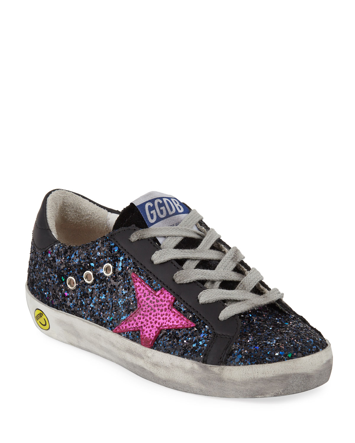 a3313f7934dea Golden Goose Superstar Glittered Low-Top Sneakers, Baby/Toddler ...